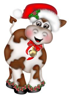Cattle clipart christmas #9