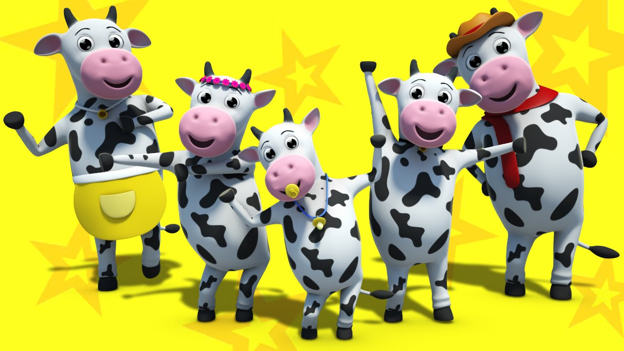Cattle clipart cow family #10