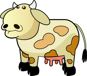 Cattle clipart cow family #6