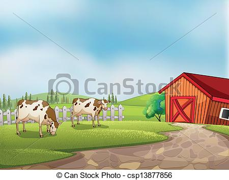 Farm clipart natural environment The of Two Vector a