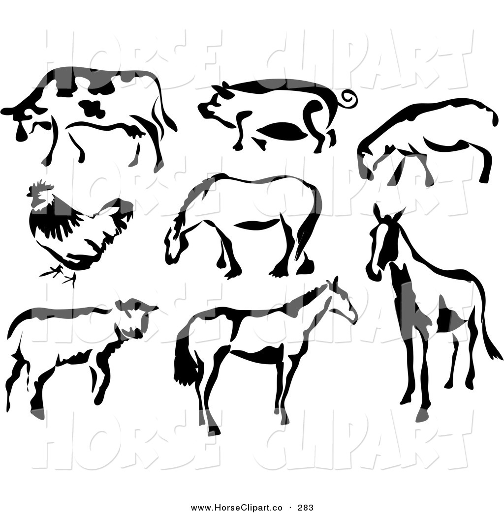 Cattle clipart white background Of Cow Art White and