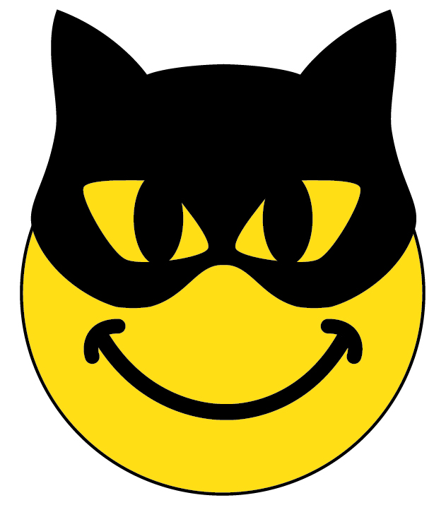 Batman clipart smiley face #1