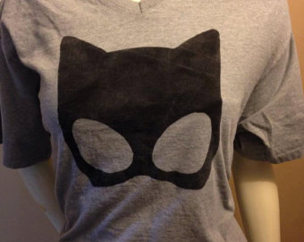 Catwoman clipart grey Mask Shirt Catwoman Mask Etsy