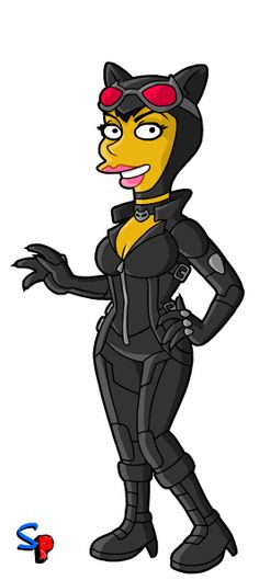Catwoman clipart grey  Catwoman Catwoman Springfield Overload