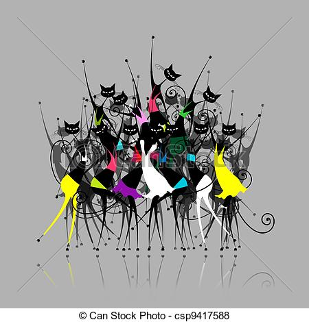 Catwoman clipart logo Illustration Vector for your for