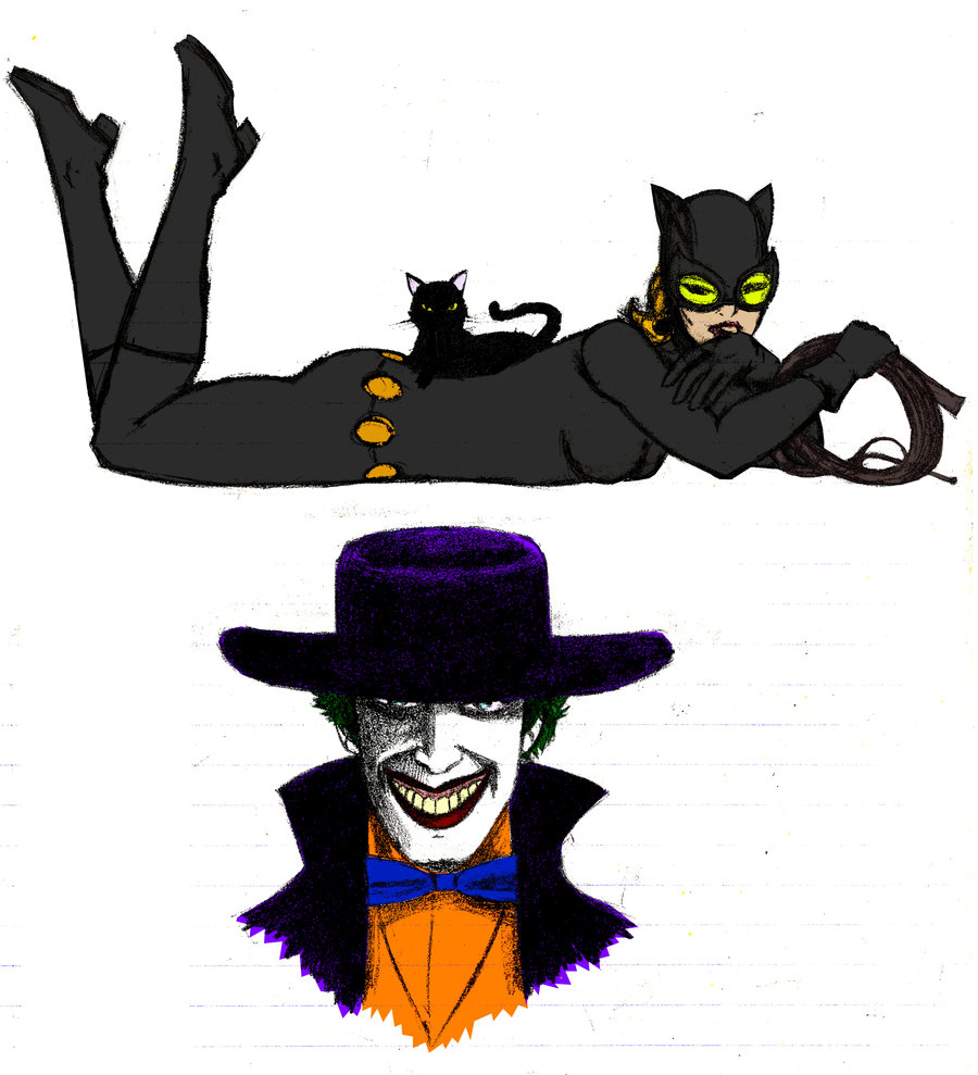 Catwoman clipart the joker By And on Joker Jochimus