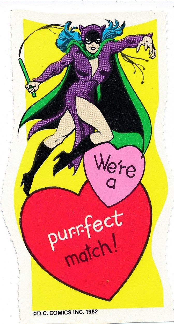 Catwoman clipart vintage DC now Batman Batman Card