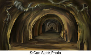 Cavern clipart stalactite Of Digital EPS Mysterious cave