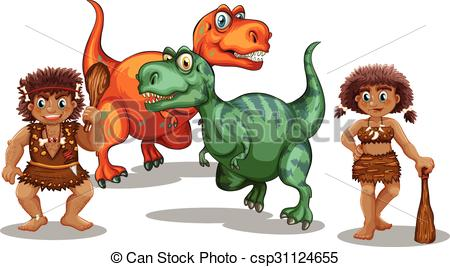 Cave clipart vector Cave people Vector Dinosaurs cave