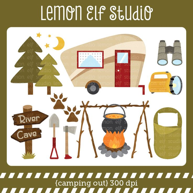 Cave clipart vector Set comes van on images