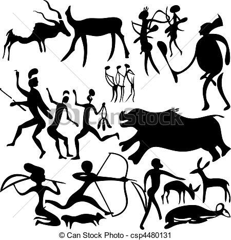 Cave clipart icon Cave Cave painting Vector Art