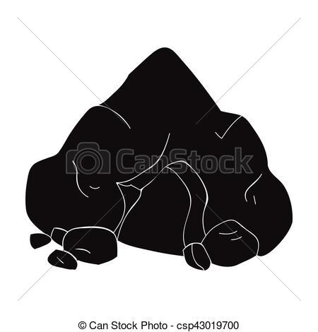 Cave clipart icon Stone in  white icon