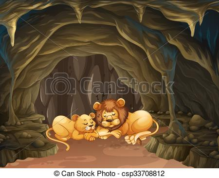 Cave clipart lion cave In the Clip lions sleeping