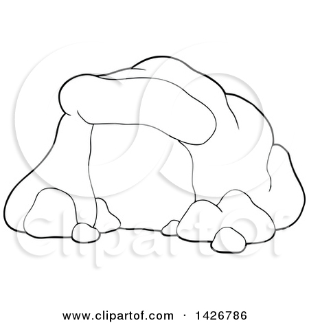 Cave clipart vector Woods clipart woods outline outline