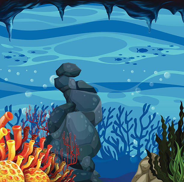 Cave clipart underwater cave Collection Underwater Art Clip Caves
