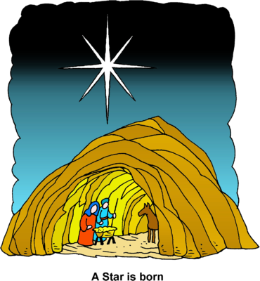 Cave clipart where jesus was born Above com Star A Star