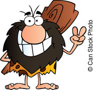 Caveman clipart Smiling of Smiling Club Caveman