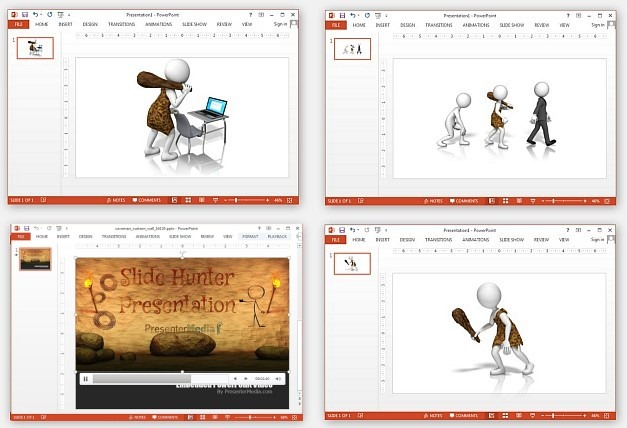 Caveman clipart neanderthal Animation PowerPoint for Caveman clipart