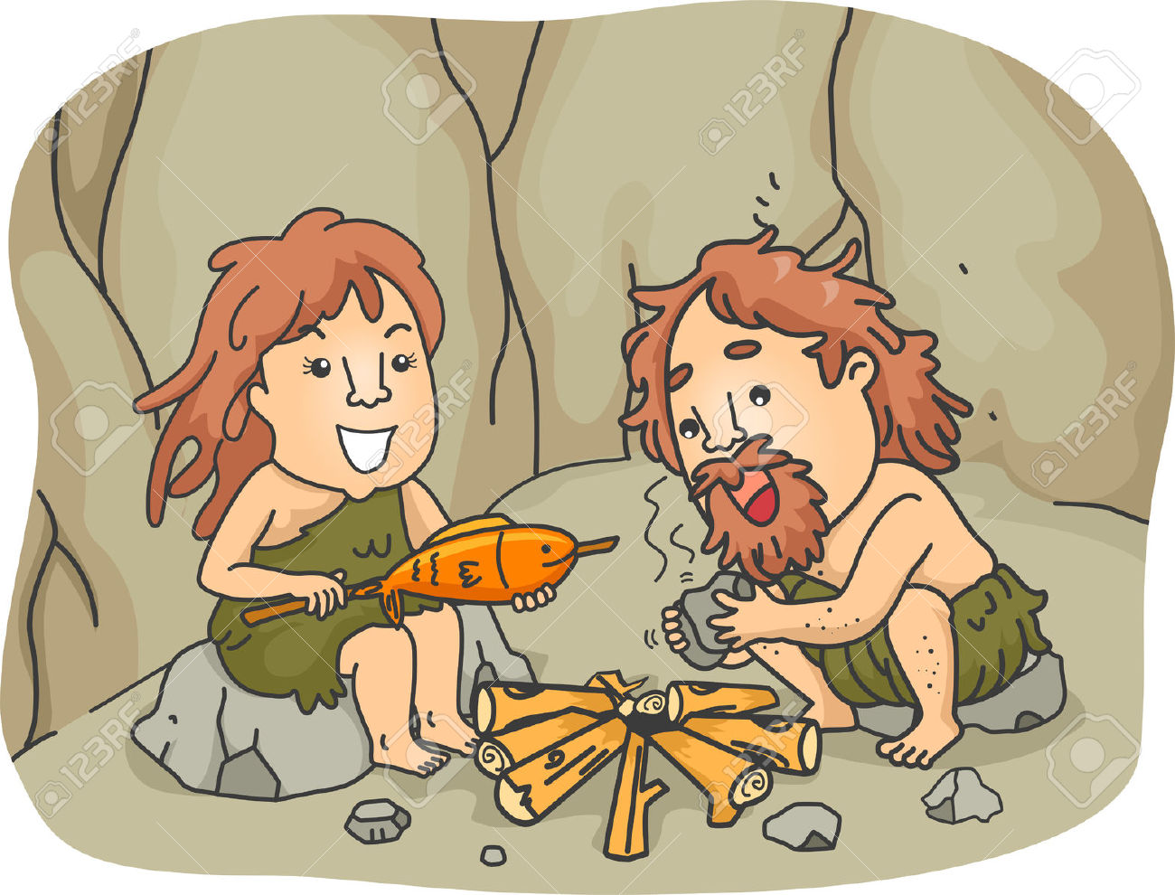 Caveman clipart hunting Collections Hunting clipart food clipart