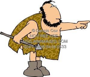 Caveman clipart hunting Illustration: Caveman Hunter Hunter Illustration: