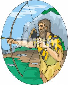 Caveman clipart hunting Picture A Hunting A Royalty