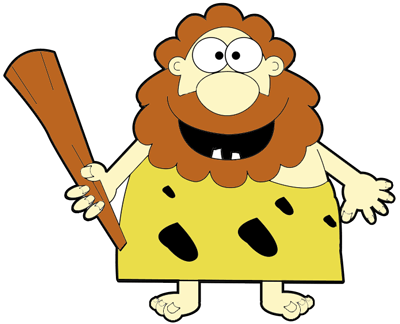 Caveman clipart wooden club In to a How Cartoon