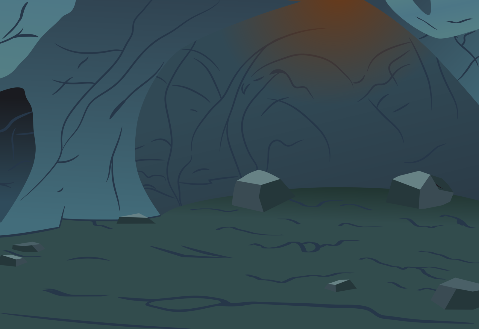 Drawn cavern vector Cliparts cave Underwater Inside clipart