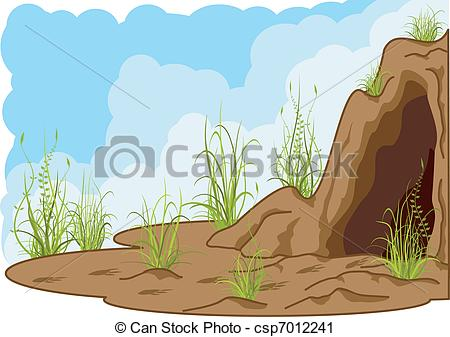 Cavern clipart inside cave #6