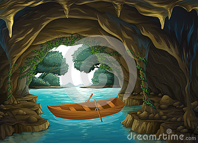 Cavern clipart inside cave #2