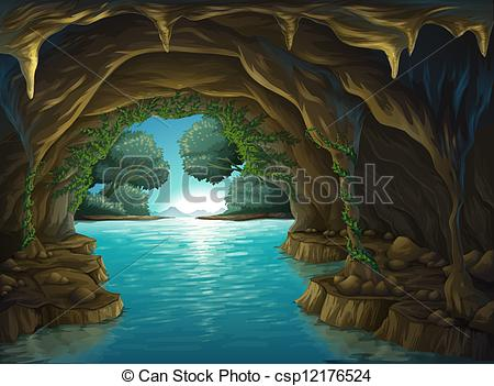 Cavern clipart mountain cave Images and and a cave