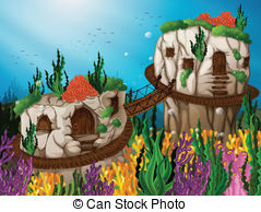 Cavern clipart underwater cave Two Caves 4 481 of