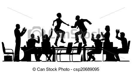 Celebration clipart business team Meeting Vectors celebration csp20689095