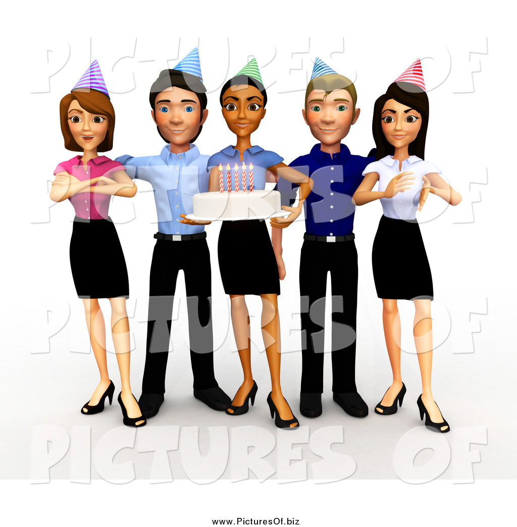 Celebration clipart business team Birthday Stock Holding Office Business