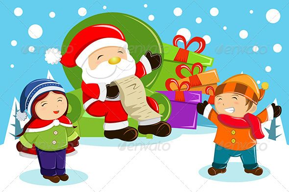 Celebration clipart cartoon Children fe… Present Carrying Bags