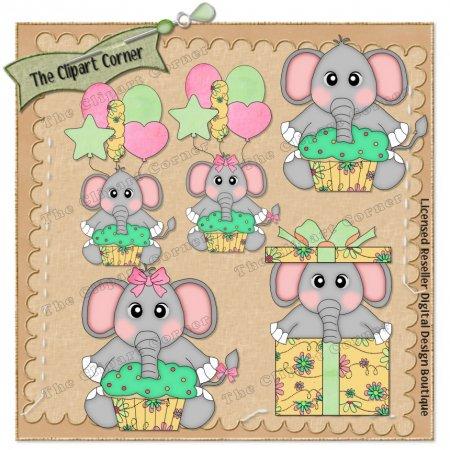 Celebration clipart corner The Art Elephants Celebration Clip