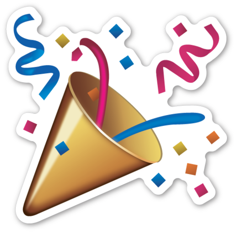 Celebration clipart emoji Emoticon and Party Party poppers