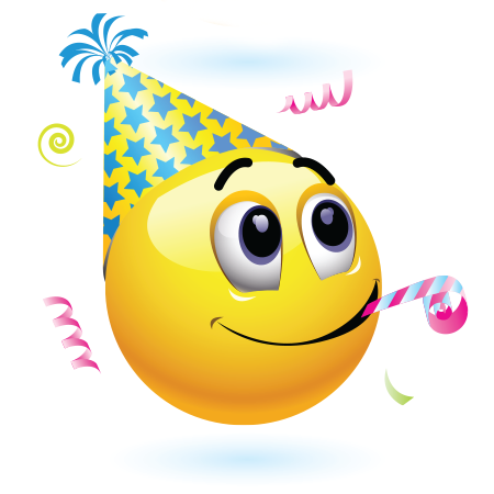 Mood clipart emoji Emoticon Celebration Celebration Birthday Birthday