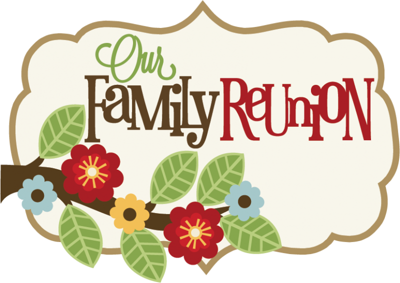 Word clipart family reunion Family clip family art Big