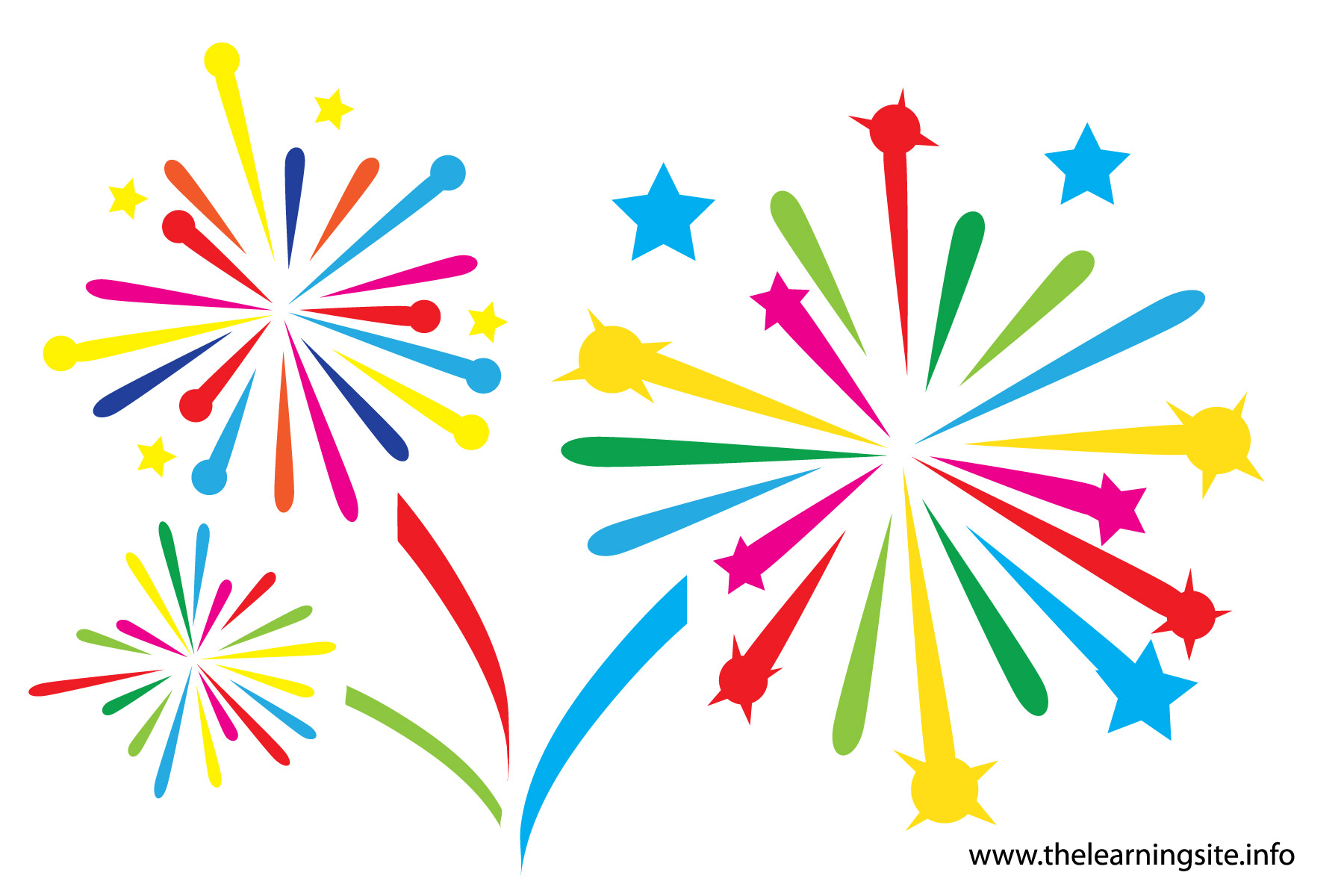 Celebration clipart firecracker Rvq04n cps Clipart Learning Fireworks