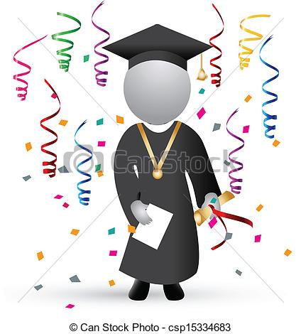 Celebration clipart graduation day Vector background Graduation Graduation of