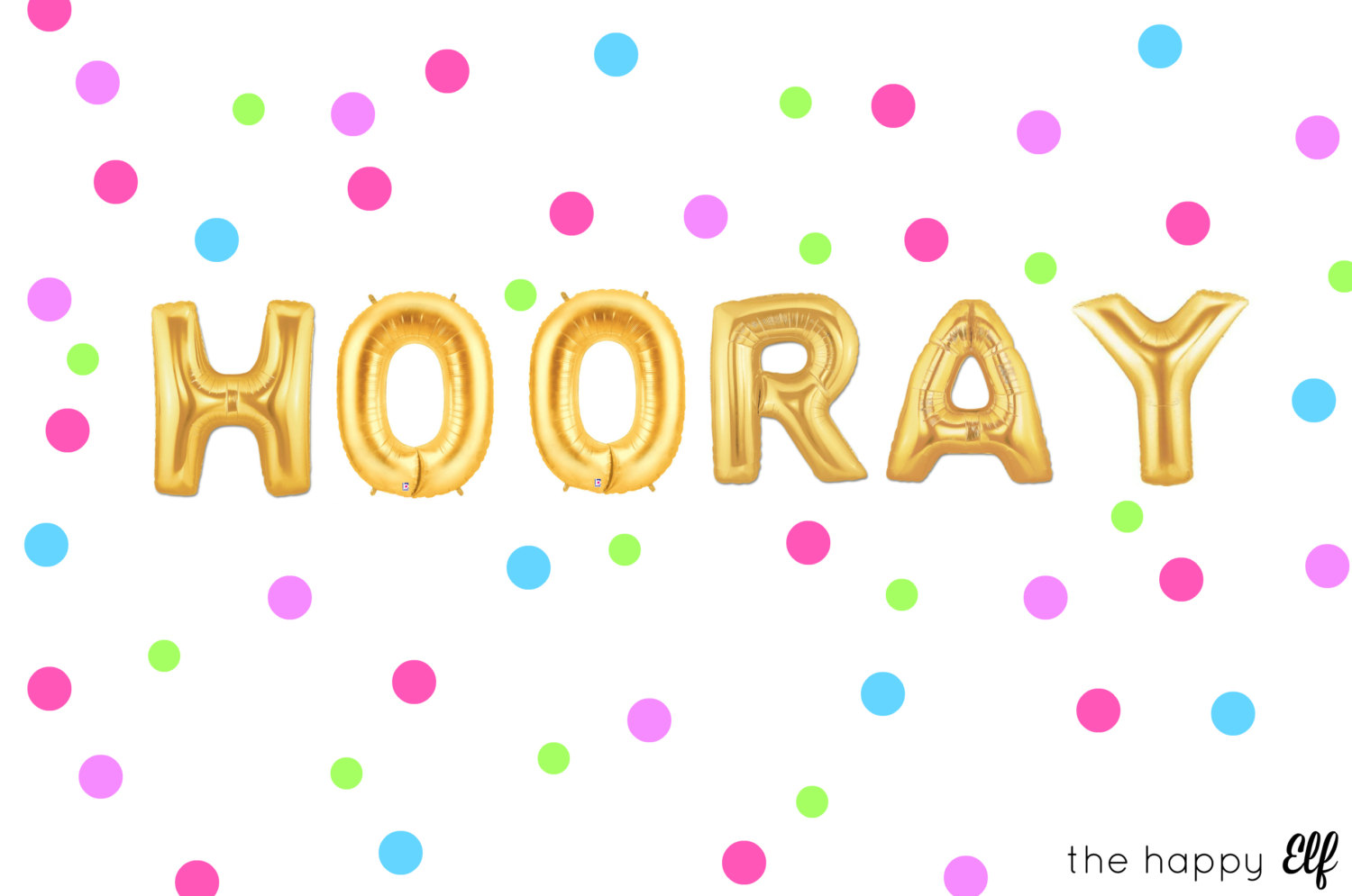 Celebration clipart hooray Party Celebration  Hooray balloons/banner