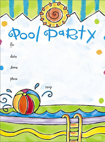 Celebration clipart invitation Pool Download Party Pool Clipart
