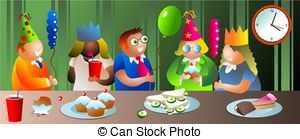 Celebration clipart office party Office Illustration Stock Illustration Small
