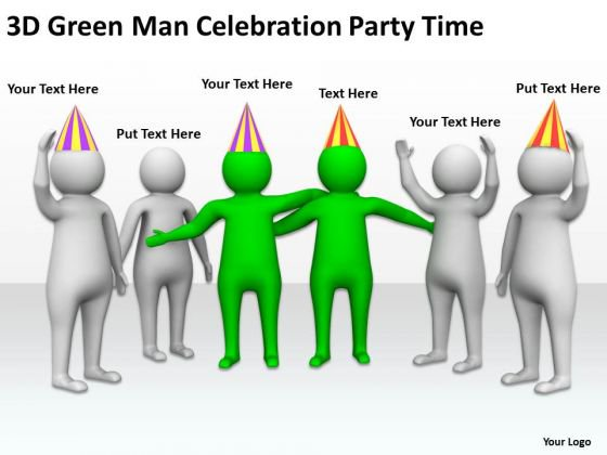 Celebration clipart powerpoint free download Celebration People Green Man Party