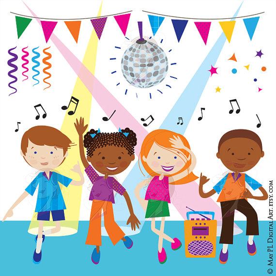 Disco clipart disco party Clipart Girl Kids Clipart Funky