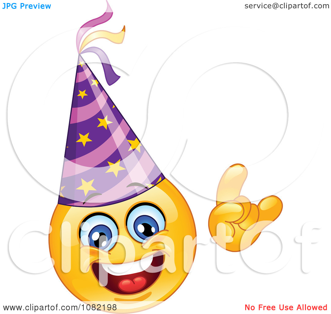 Celebration clipart smiley face Clipart Face Hat Emoticon Year