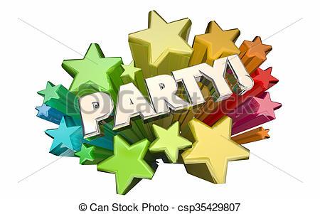Celebration clipart special event Anniversary Word Invitation Illustration Stock