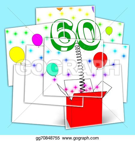 Celebration clipart surprise party Number sixty party Clipart Number