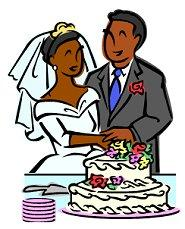 Wedding Cake clipart african american Clipart Wedding Cake cutting Free