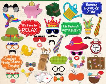 Celebration clipart work party Retirement Prop Instant Retirement Prop